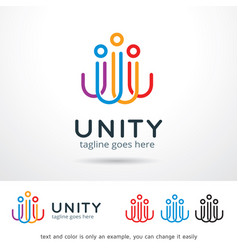 Abstract people logo template vector