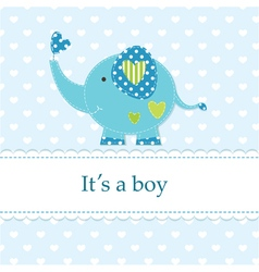 Baby shower with cute elephant 4 vector image
