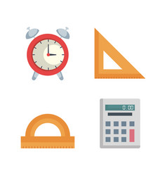 Back to school set icons vector