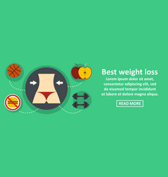 best weight loss banner horizontal concept vector image