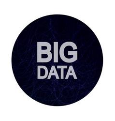 big data visualization concept vector image