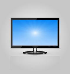 Black monitor vector
