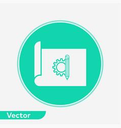 blueprint paper icon sign symbol vector image