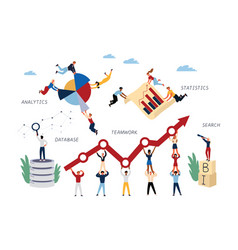 business concept intelligence vector image