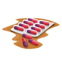 capsules in strip vector image