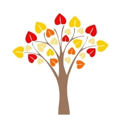 Cartoon tree apple vector