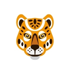 Cheetah African Animals Stylized Geometric Head vector