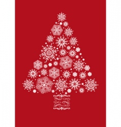 Christmas tree collage vector image