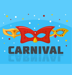 Circus carnival logo flat style vector