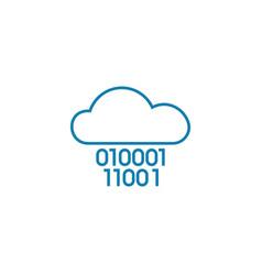 cloud technology linear icon concept cloud vector image