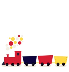 Colorful cartoon Train isolated on white vector