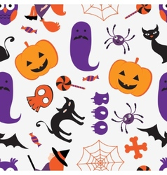 Colorful Halloween pattern vector
