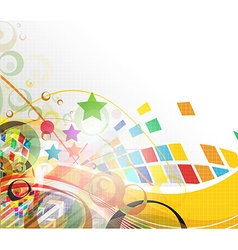 colorful mosaic design vector image