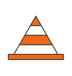cone construction isolated icon vector image
