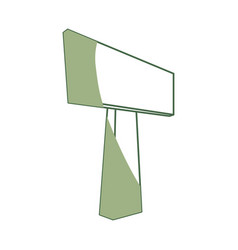 Empty signpost isolated vector