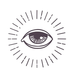 Eye sun symbol vector image