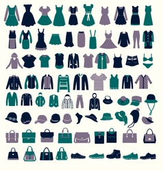 fashion elements fashion Collection vector image