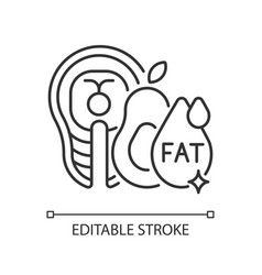Fats linear icon vector