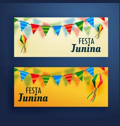 Festa junina banners set of two vector