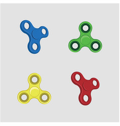 Fidget spinner set design vector