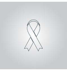 Flat ribbon aids symbol icon vector image