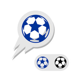 football soccer ball with stars logo vector image