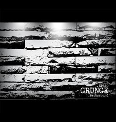 grunge style modern brick wall texture vector image