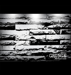 grunge style of modern brick wall texture vector image
