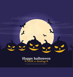 Halloween party background flat vector