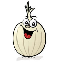 happy onion character vector image
