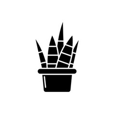 home plant black icon sign on isolated vector image