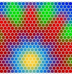 Honeycomb - abstract geometric hexagon flower vector