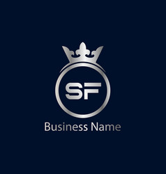 Initial letter sf logo template design vector