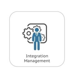 Integration Management Icon Flat Design vector image