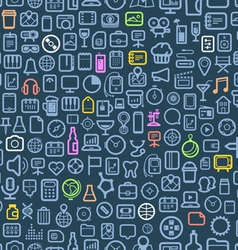 interface icons seamless background vector image vector image