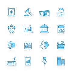 line with blue background business and finance vector image