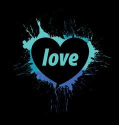 Logo heart splash vector