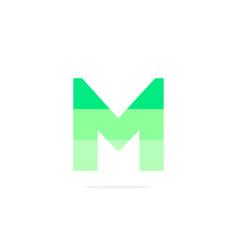 logo letter m green energy battery vector image