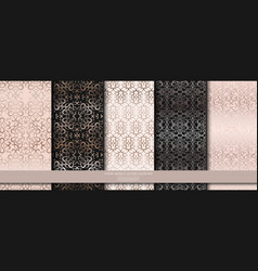 luxury abstract pattern collection pale pink vector image