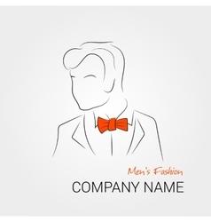 Man with orange bow tie vector image