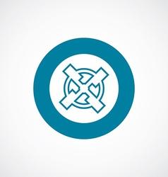 mill icon bold blue circle border vector image
