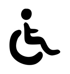 Monochrome hand drawn silhouette of wheelchair vector