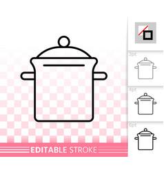 pan simple black line icon vector image