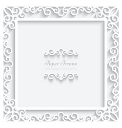 Paper square frame vector