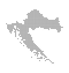 Pixel map of croatia dotted map of croatia vector