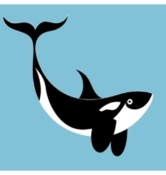 Portrait of a killer whale vector