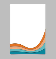 Poster template from colorful curved stripes vector