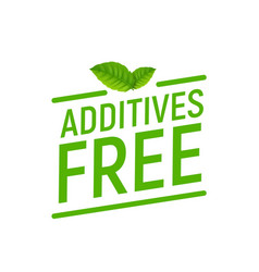 Preservative free logo icon stamp additives free vector