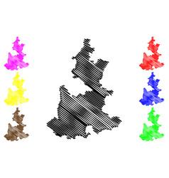 Puebla map vector