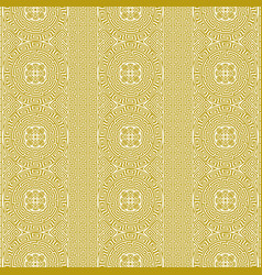repeating background in line art greek style vector image